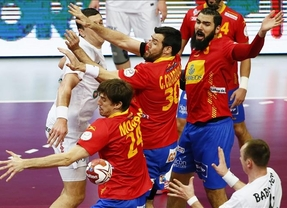 Los 'hispanos' inician la defensa de su título con victoria ante Bielorrusia (38-33)