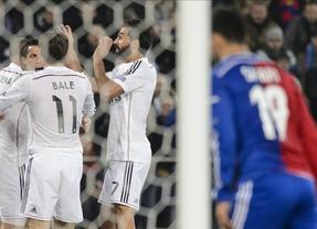 Suma y sigue: el Madrid gana en Basilea (0-1) sin brillo y Ancelotti bate el récord de victorias de Mourinho y Muñoz