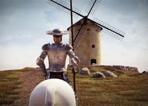 El Quijote, en pantalla grande en el centro de Madrid