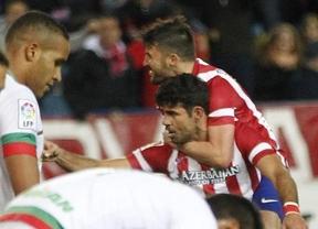 Un gol de 'Matador' Diego Costa apuntilla al Granada y afianza a un Atlético muy luchador como líder en solitario (1-0)