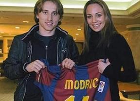 La foto de Modric con la camiseta del Barça causa furor