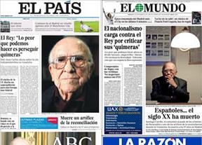 Una carta del Rey vale más que la muerte de Santiago Carrillo: la prensa conservadora 'afea' al comunista