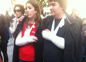 Dos miembros de un piquete heridos al ser atropellados en Toledo