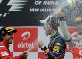 Alonso regresa al podio con su patata-móvil en un nuevo paseo de Vettel