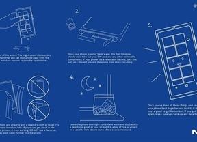 ¿Cómo salvar un 'smartphone' mojado? Nokia se lo explica