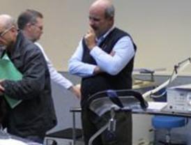 Simulacro de los profesionales que se trasladan en la segunda fase al Hospital General Universitario de Santa Lucía