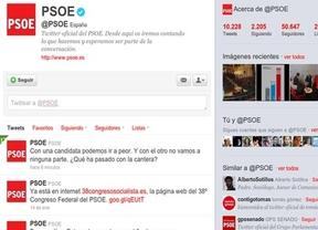 ¿Guerra en Twitter?: aparece en @PSOE una crítica a sus aspirantes a la Secretaría General