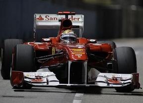 Vettel comienza liderando los entrenamientos en Singapur; Alonso y los McLaren le siguen de cerca