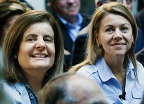 Cospedal y Báñez defienden la reforma de las pensiones porque garantiza