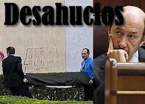 El PSOE presume de liderar la campaña anti-desahucios y se justifica por no actuar cuando gobernaba
