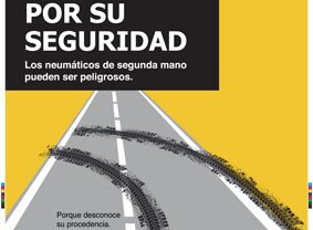 CONEPA difunde pósters gratuitos sobre los riesgos de los neumáticos de segunda mano