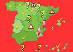 Mapa autonómico de los rescates: las regiones que pedirán y las que no pedirán ayudas al Estado