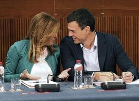 Susana Díaz piensa en la posibilidad de presentarse a las primarias del PSOE, frente al secretario general