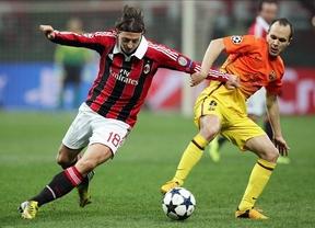 Los culés tropiezan en Milán y deberán remontar en Barcelona (2-0)