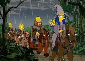 Los Simpson cruzan la Tierra Media en su camino hasta el sofá
