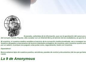 Anonymous 'hackea' la web de los editores de prensa como protesta contra la Ley de Propiedad Intelectual