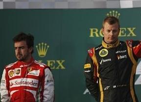 Raikkonen y Alonso rompen el dominio de Red Bull