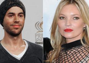 Enrique Iglesias demuestra su amor infantil por Kate Moss y ésta se indigna con el cantante