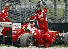 Alonso sufre un leve accidente sin consecuencias durante sus entrenamientos en Mugello