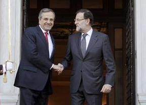 Rajoy hace campaña en Grecia por Samaras y en contra de Syriza: