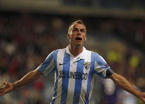 El Málaga no brilla en su estreno y Duda despide una fase estupenda firmando un doblete (2-2)