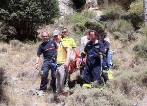 Rescatado un montañero que se cayó por un barranco en Uña (Cuenca)