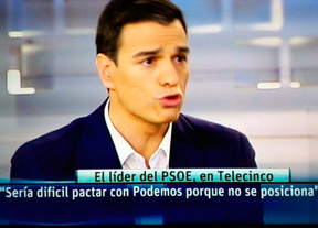 Pedro Sánchez se viste de Tsipras para atacar a Podemos