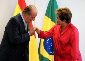 El discurso (de apoyo) del Rey: don Juan Carlos vende en Brasil las reformas de Rajoy