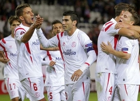 Cara y cruz en la Liga Europa: el Sevilla sigue en racha (3-1, al Standard) y el submarino encalla en Zúrich (3-2)