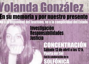 13-A: manifestación en recuerdo de Yolanda González