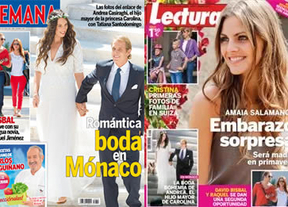 Las revistas de la semana traen a sus portadas 3 bodas reales con mucho glamour y un embarazo sorpresa