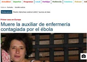 Internet mata a la enfermera Teresa Romero