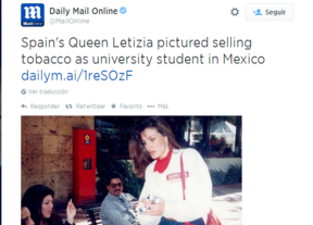Filtran el pasado plebeyo de la reina Letizia como 'cigarrera' en México