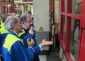Visita del presidente de la Junta de Castilla y León a la factoría de Michelín en Valladolid