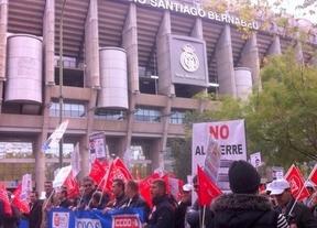 Unas 300 personas se manifiestan ante el Ministerio de Industria por la continuidad de Elcogas