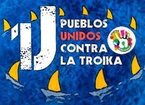 Los 15-M europeos se unen en protesta por la dictadura financiera y para 'que se lixe a troika'