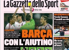 La prensa italiana y la ayuda arbitral al Barça: el polémico penalti a Busquets