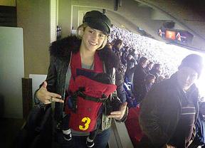 Shakira llevó al pequeño Milan a ver a su padre jugar al fútbol
