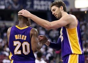 Resta y sigue: nueva derrota de los Lakers pese a otra buena actuación de Gasol (110-103, ante los Knicks)