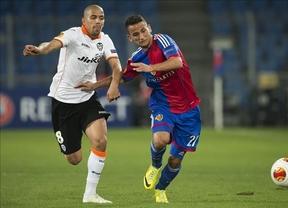 Liga Europa: petardazo después de Fallas del Valencia en Basilea (3-0) y derrota remontable del Sevilla en Oporto (1-0)