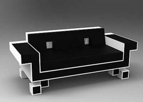 El sofá inspirado en el videojuego 'Space Invaders' cuesta 5.000 dólares