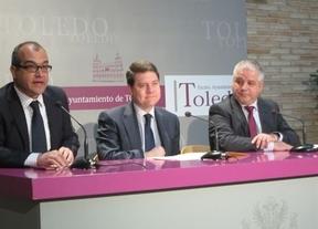 García-Page, este martes, en el Ayuntamiento de Toledo