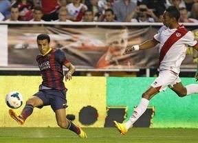 Un 'hat-trick' de Pedro aniquila a un valiente Rayo Vallecano (0-4)
