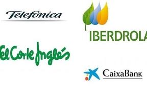 Telefónica, El Corte Inglés, CaixaBank e Iberdrola, empresas referentes para la recuperación