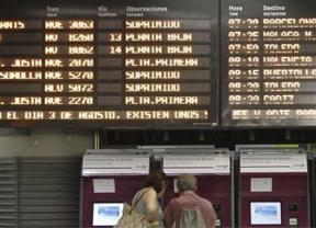 La huelga de trenes se está desarrollando sin incidencias en sus primeras horas