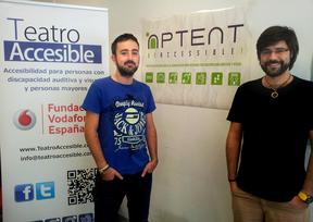 Diego y Javier 'emprenden' el camino a una sociedad sin barreras desde Aptent be Accesible!