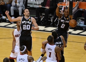 San Antonio Spurs celebra el día de su santo: apaliza a los Heats y queda a una victoria del anillo NBA (86-107)