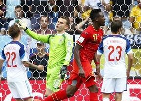 Los 'Courtois boys' cumplen los pronósticos favorables: ganan a Rusia y ya están en octavos (1-0)