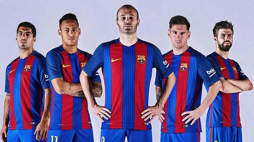 El Barça lanza su nueva camiseta para la próxima temporada, la 2016-2017