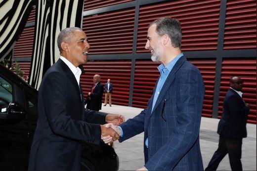 El regalo del Rey a Obama tras una visita privada al Reina Sofía